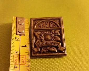 Birds & Blooms Seeds Sunflowers Pin