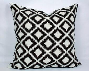 Black ikat pillow covers geometric pillow cover ikat throw pillows black and white throw pillow 18x18 decorative pillow 26x26 pillow cover