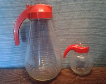 Set of 2 Drop Ct Juice/Syrup Dispenset & Small Honey/Syrup Dispenser