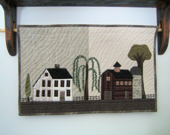 Quilted Wall Hanging Summer Farm