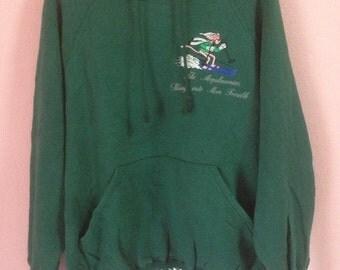vintage pink panther hoodie green