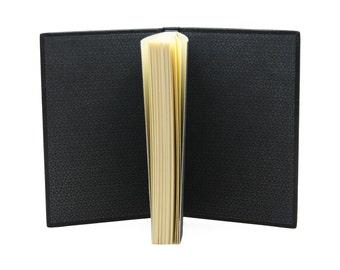 Small notebook in black leather