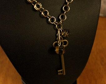 Key bangle necklace