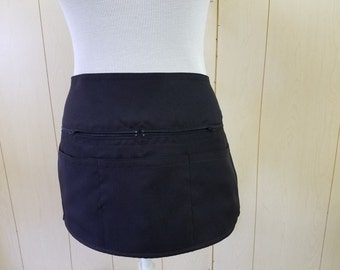 waist apron with zippers