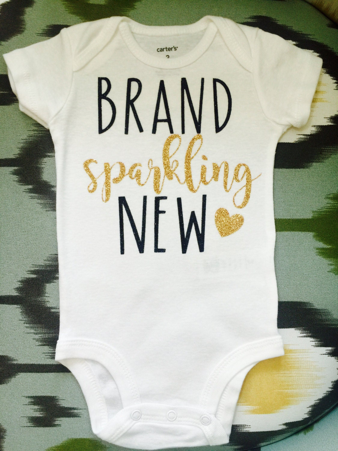 Sparkling New Year S Eve Nails Tutorial: Brand Sparkling New Baby Onesie