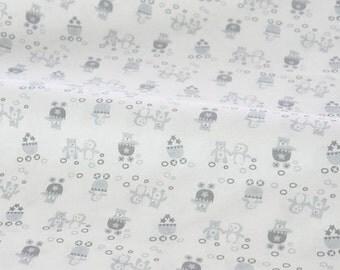 "Cotton Knit Fabric - Penguin and Polar Bear - 19.5"" x 70.5"" JJ517"