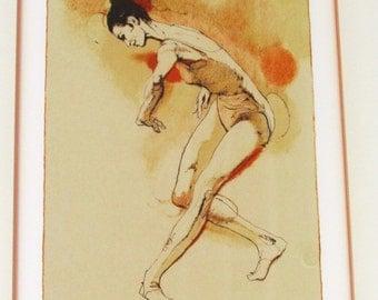REHEARSAL- Ballet Art Framed Lithograph by-JIM JONSON coa