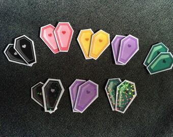 Pastel Coffin Stickers