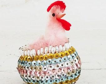 Edgar Sequin Egg & Rooster