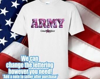 Army Granddaughter Tshirt - Military tshirt