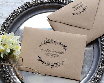 Rustic Wedding Calligraphy Envelope Addressing Template, DIY Printable Template, Instant Download, Editable PDF Template, Digital Download