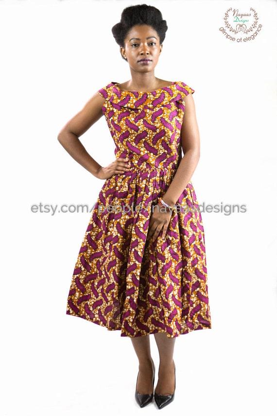 items similar to ankara print dress women african