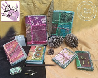 Handmade Embroidered and Embellished Notebook / Journal with Multi-Colour Thread Closure