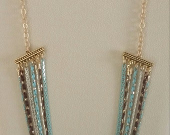 "28"" Cascading Chain Necklace"