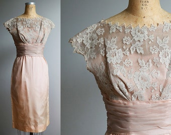Small Lace 1960s Party Dress