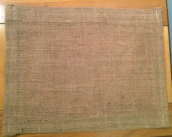 Hessian Table Placemats, 30cm x 40cm, Fully Hemmed, NEW