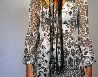Long Black Necklace Fashion Jewelry Avand Garde