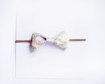 Vintage Flower Fabric Bow