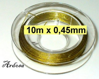 1 coil with 10 m wire 0, 45 mm brass gold (1045.9)