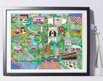 Atlanta, Georgia Art Print
