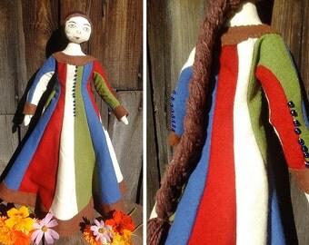 Medieval Doll 14th century Italy/Historical handmade doll