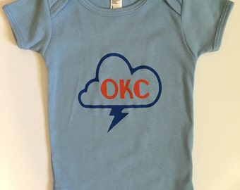 CanaBaby OKC Thunder baby onesie American Apparel