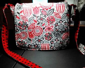 Red and Black Messenger Bag