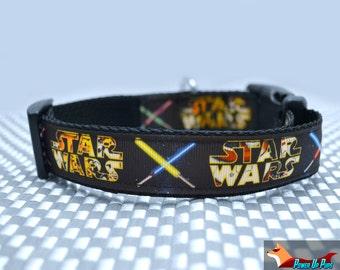 Lightsaber Battle Star Wars Dog Collar