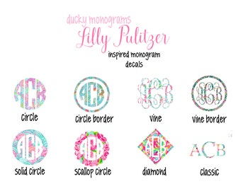 Lilly Pulitzer Inspired Vinyl Decals