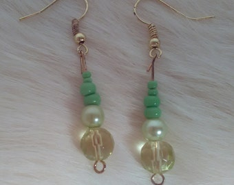 Lima bean drop earrings