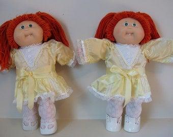 Vintage 1985 Cabbage Patch Kids Dolls - Twins