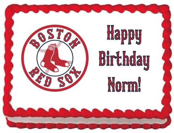 Red Sox Cake Topper