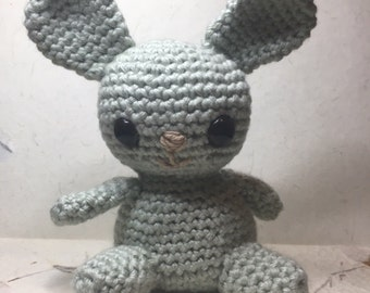 Light Sage Green Kawaii Amigurumi Crochet Bunny/bear cute cute cute stuffed animal plush