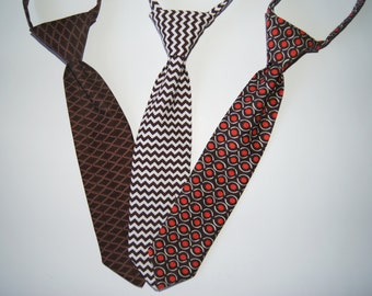 Kids Ties, Baby Ties, Childrens Ties, Toddler Ties, Brown Ties