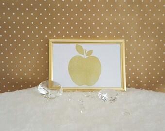 Gold apple print