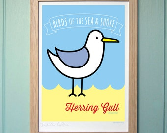 A4 Digital Print for Kids - Herring Gull