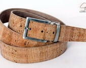 Men Cork Belt, Handmade Cork Belt, Cinturón de Corcho hombre, fabricado a mano.