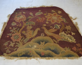 Antique Needlepoint, Pettipoint chair seats