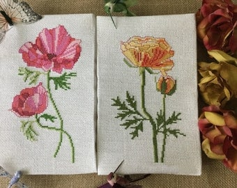 Hand Embroidered paintings cross stitch