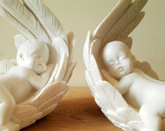 A twin carried on angel wings
