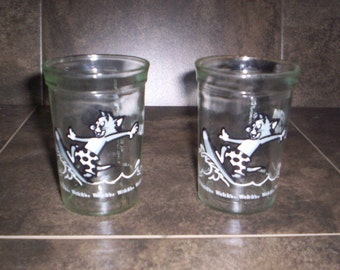 Vintage Welches Tom & Jerry Surfing Glasses