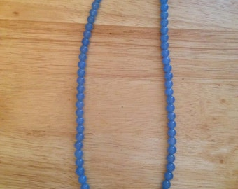 LONG Blue Chalcedony Necklace