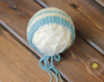 Topaz Newborn Knit Bonnet, Newborn Photography Prop