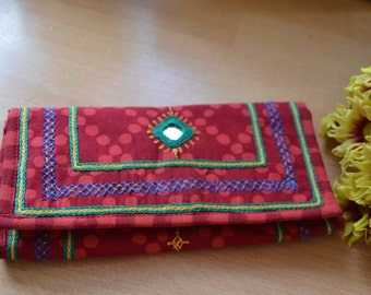 Banjara Clutch, Boho purse, Evening purse, embroidered Ethnic hand purse, hand purse, pochette, purse with mirrors