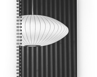 Geometric Spiral Notebook  ~  Black and White Journal ~  Abstract Notebook ~ Contemporary Gift ~ Geometric Print ~ Photo Notepad, Modern Art