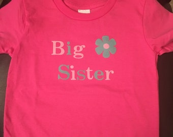 Big Sister T-shirt/custom/personalized/gift for new big brother or sister