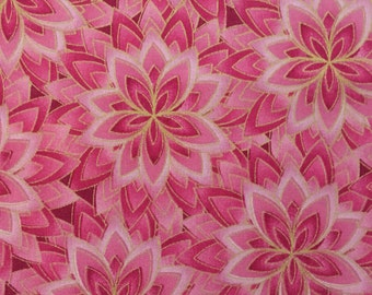 Pink and Gold Floral Fabric