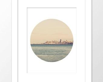 San Francisco photo download, San Francisco print, city print, modern printable, California photography, skyline poster, wedding decor