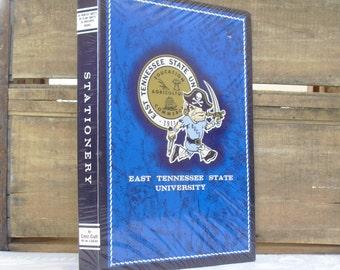 Vintage ETSU Stationery Set, Writing Portfolio, Custom Stationery, Stationery Organizer, Graduation Gift, ETSU Memorabilia, ETSU Ephemera