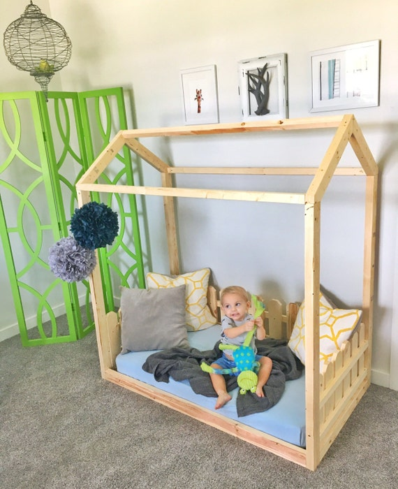 made in us toddler bed frame house bed picket fence 11925 | il 570xn 1035340616 4m8h